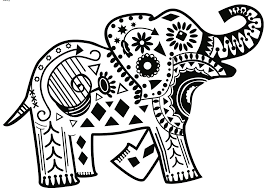 abstract elephant coloring pages getcoloringpages