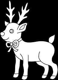 christmas reindeer coloring page free clip art