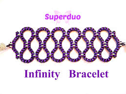 beaded butterfly bracelet images Tutorial superduo infinity bracelet pattern in 2 hole super duo jpg
