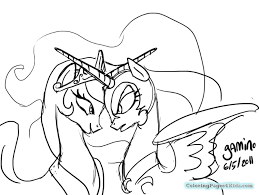 pony nightmare moon coloring pages colotring pages