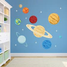 28 solar system wall stickers solar system wall decal outer solar system wall stickers planets printed wall decal space decal solar system decal