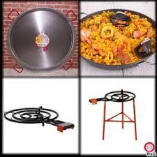 cuisiner pour 50 personnes kit à paella en acier pour 50 personnes