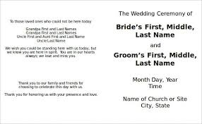 wedding ceremony program template word wedding program template 64 free word pdf psd documents