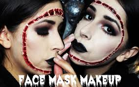 halloween makeup reattached face mask makeup tutorial youtube