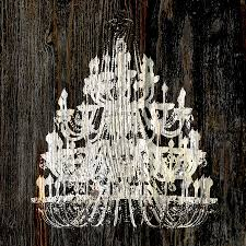 Shabby Chic White Chandelier Rustic Shabby Chic White Chandelier On Wood Photograph By Suzanne