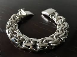 silver chain link charm bracelet images Mens 925 sterling silver thick and heavy chain link bracelet jpg
