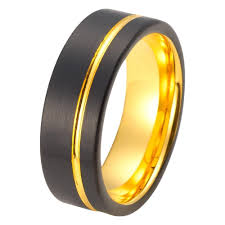 wedding male rings images Mens yellow gold wedding band tungsten wedding rings jpg