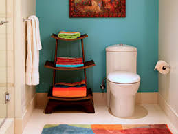 ideas for decorating bathroom chic cheap bathroom makeover hgtv