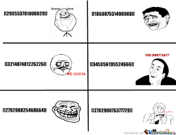 Facebook Meme Codes - facebook chat codes for rage faces by serkan meme center
