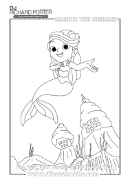 marina the mermaid colouring pages wedding dj richard porter