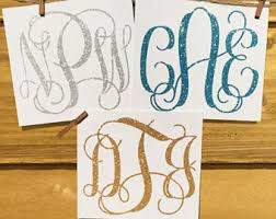 monogram letter stickers monogram sticker etsy