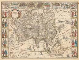 World Map Of Asia by 1635 Asia Noviter Delineata U2013 Hjbmaps Com Harlan J Berk Ltd