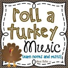 free roll a turkey learn notes and rests by