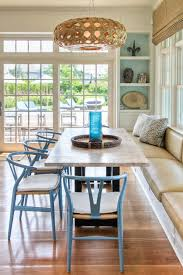Woven Dining Room Chairs New York Dining Room Booth Beach Style With Woven Pendant Light