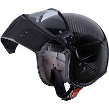 the shield ghost mask caberg ghost carbon open face motorcycle helmet aggressive face