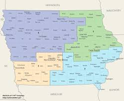 Map Of Iowa State by Iowa U0027s Congressional Districts Wikipedia