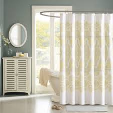 Yellow And White Shower Curtain Scintillating White And Yellow Shower Curtain Photos Ideas House