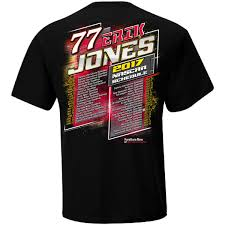 erik jones checkered flag 2017 schedule t shirt black fanatics com