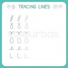 line pattern worksheet trace line worksheet for kids preschool or kindergarten worksheet