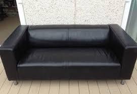 sofa klippan black ikea klippan leather sofa in the castro san francisco