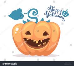 Halloween Banner Clipart by Vector Halloween Illustration Decorative Orange Pumpkin Stock