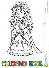 coloring book beauty fairy queen princess stock vector
