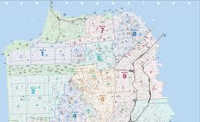 Map San Francisco by San Francisco District Map