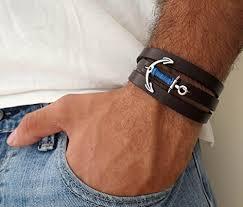 anchor leather bracelet man images Men 39 s bracelet men 39 s leather bracelet men 39 s anchor bracelet