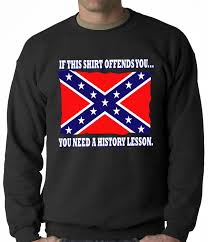 Confderate Flag Confederate Flag History Lesson Crewneck
