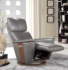 Grey Leather Recliner Buy Furniture Link Voss Grey Leather Electric Recliner Chair