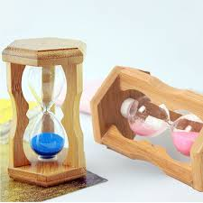 1 minute sandglass bamboo frame hourglass timer time counting home