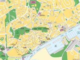 lagos city map map of lagos algarve portugal