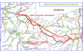 Map Of Eastern Kentucky Mountain Parkway Expansion News U0026 Events