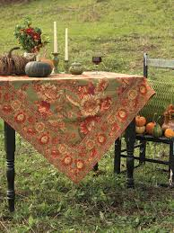 sunflower tablecloth olive attic sale linens kitchen attic