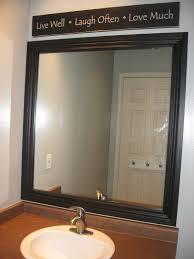 Frame A Bathroom Mirror With Molding Frame A Mirror In Bathroom Mirror Frame Ideas Stunning