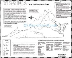 Map Of Central Virginia by Virginia Map Maps For The Classroom
