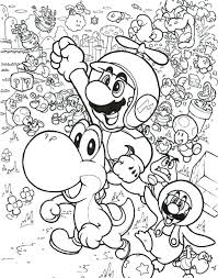 coloring pages mario party super paper free printable for kids