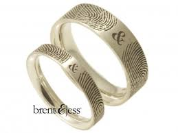 fingerprint wedding bands fingerprint wedding rings