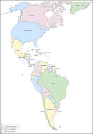 America Latina Map by Americas Free Map Free Blank Map Free Outline Map Free Base