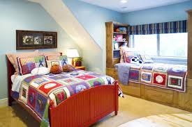 Blue And Red Boys Bedroom Boys Bedrooms Paint Blue Wardrobe Red Glass Laminate Double White