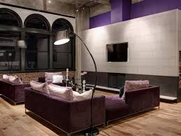 Purple Accent Wall by Penthouse Remodel In Downtown St Louis S U0026k Interiors Hgtv