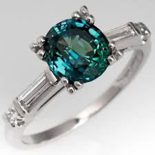 blue green rings images Green blue sapphire engagement ring in beautiful 1960 39 s platinum jpg