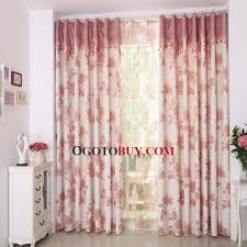 Buy Valance Curtains Eco Friendly Cotton Linen Blend Fabric Embroidered Pattern Floral
