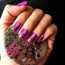aliexpress com buy metallic bright pink false nail 24pcs acrylic