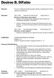 resume for teachers exles teaching resumes exles substitute resume no experience