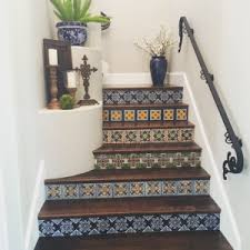 mexican tile stairs mexican tile designs