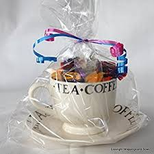 large gusseted clear cellophane gift bags 14 x 8 5 x 3