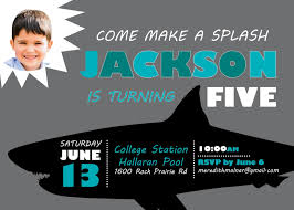 shark birthday invitation the malnar family jackson u0027s shark pool party