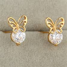 baby gold earrings gold earrings for babies online 18k gold earrings for babies for