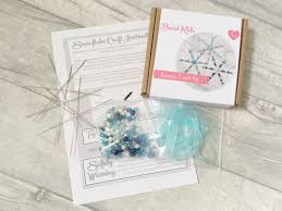 diy snowflake making kit beaded snowflake christmas